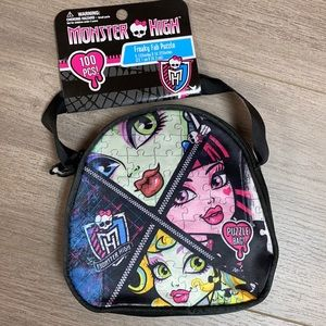 NWT Monster High Purse and Puzzle